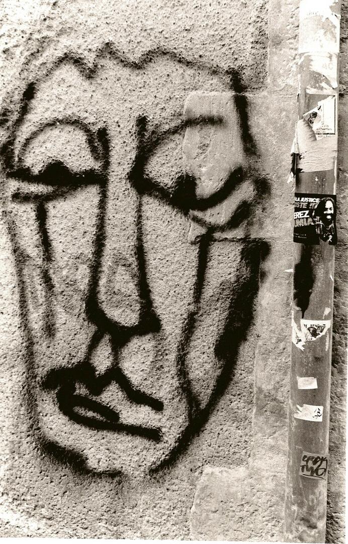 portrait sur le mur