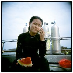 Portrait with Watermelon