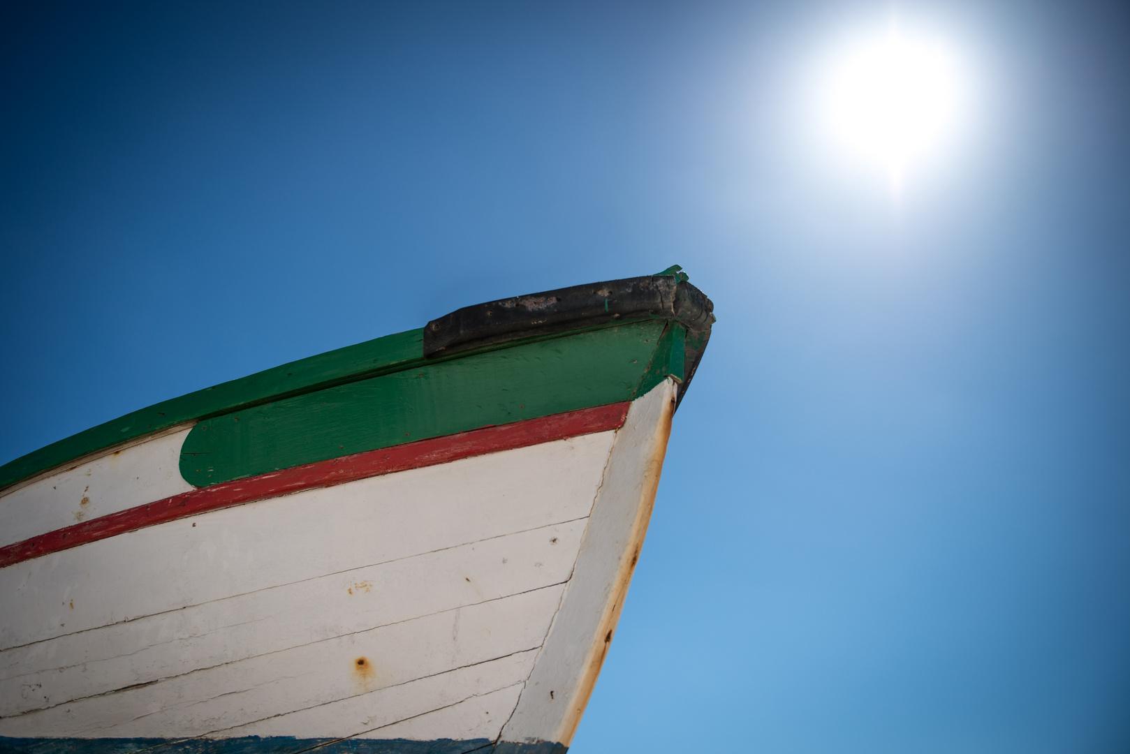 Portugal - Algarve - White On Blue I