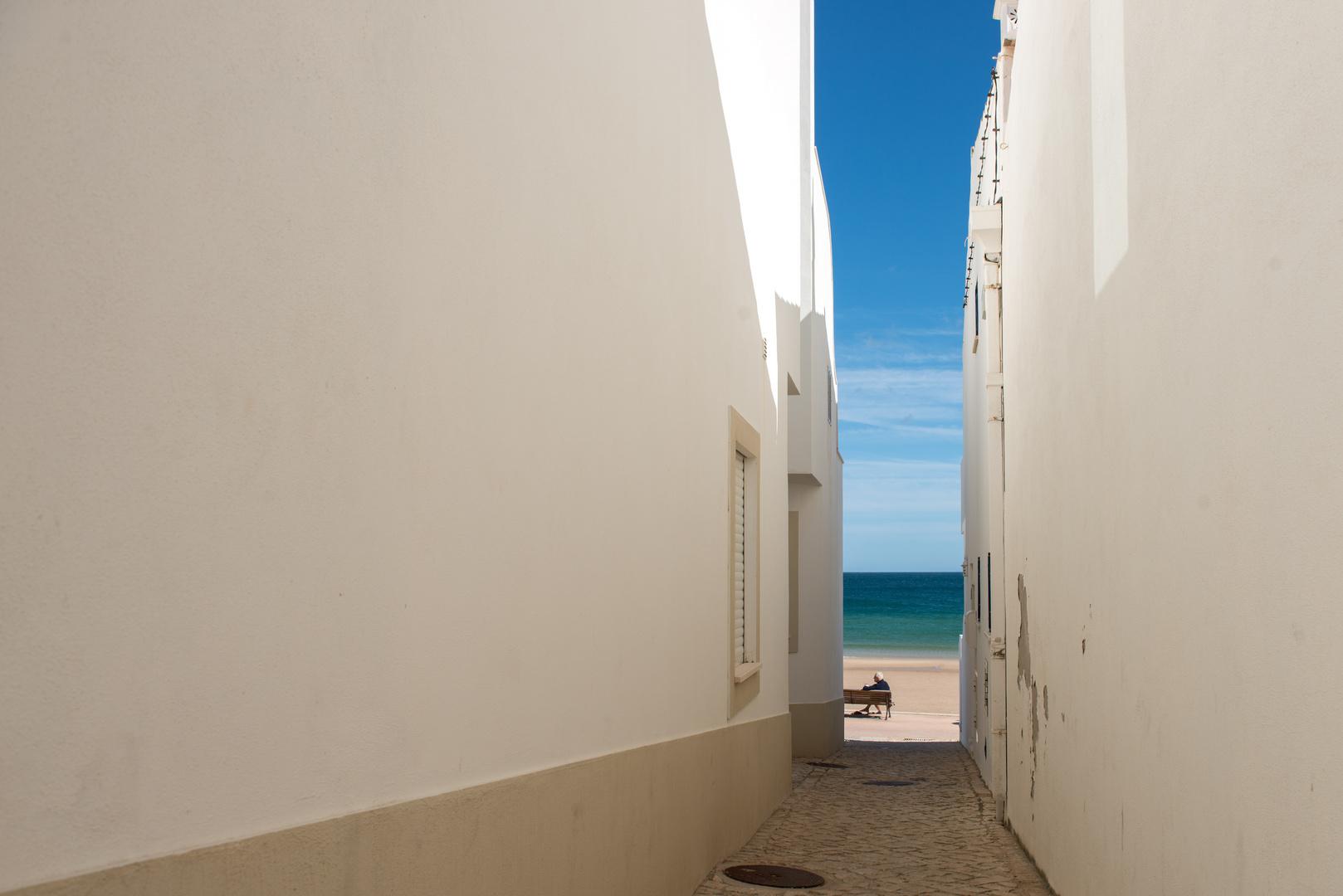 Portugal - Algarve - White On Blue II