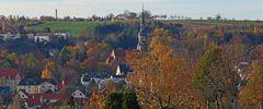 Possendorf im Goldenen Herbst und dieser Ort linkselbisch von Dresden...