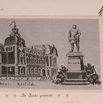 Postkarte von Krefeld aus Seide gewebt