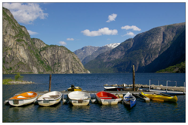 Postkartenmotiv am Campingplatz Saebo, Ovre Eidfjord