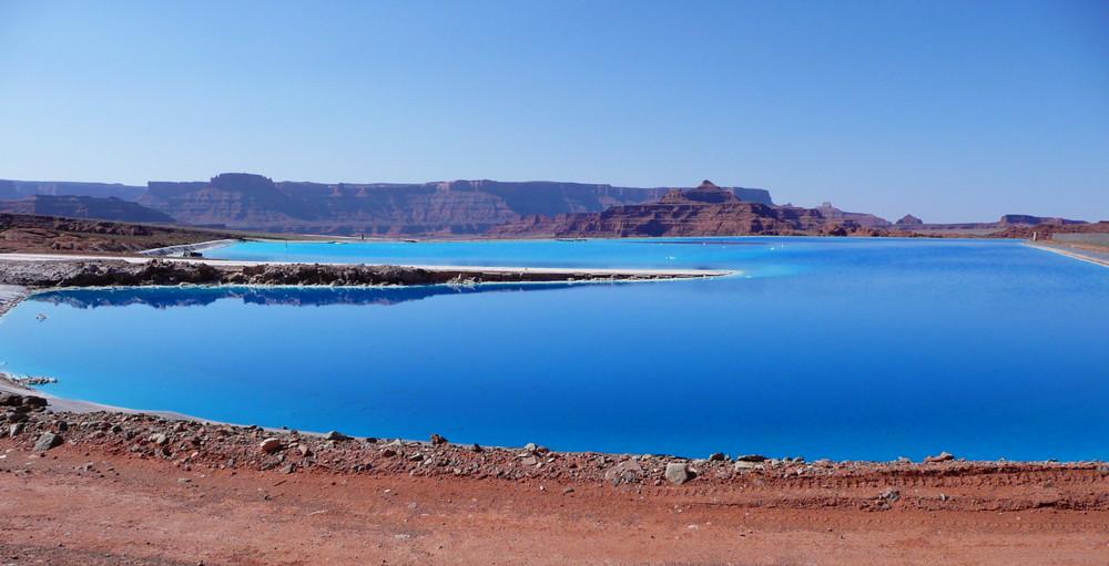 Potash - Moab, Utah (Salzverdunstungsbecken)