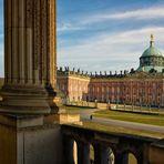 Potsdam Durchblick zum Schloss - Neues Palais -