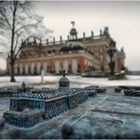 Potsdam, Neues Palais - Modell & Original