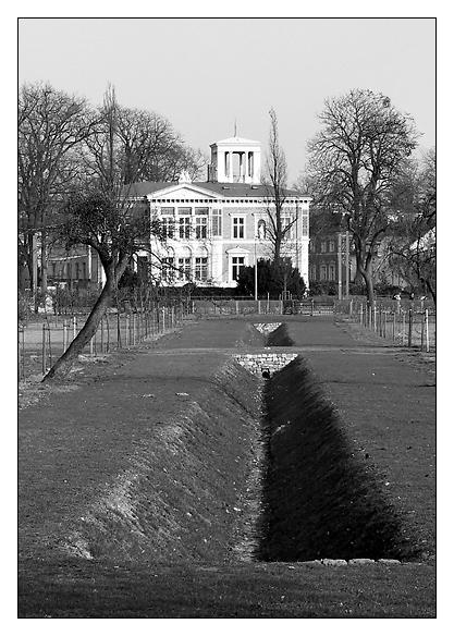 Potsdam Stadtlandschaft mit Villa