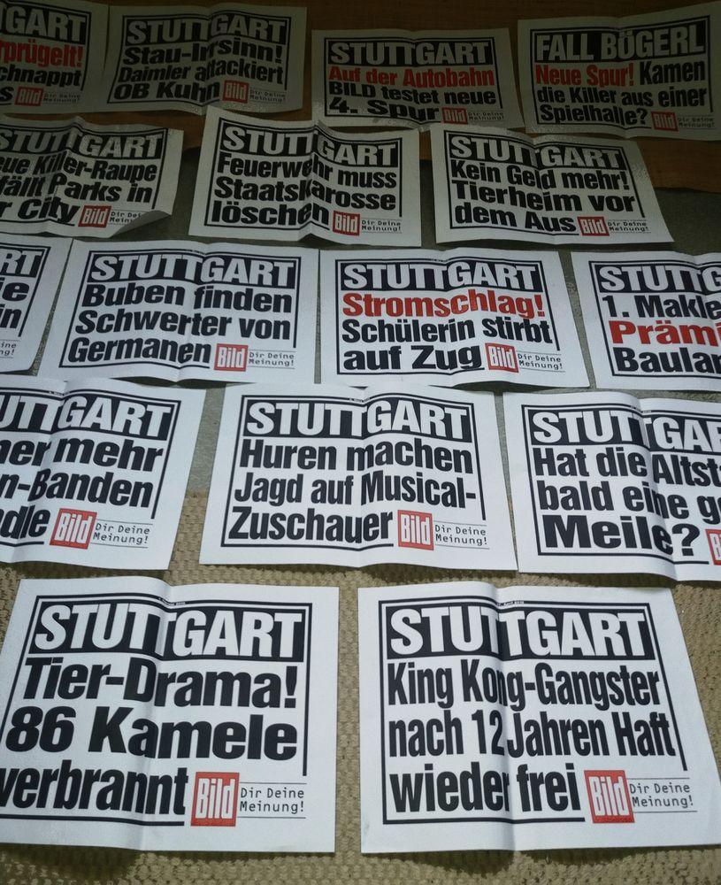 PP SCHLAGZEILEN Stgt Rueckblick  B-13-J5 TEXT