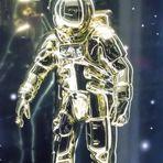 PP street Astronaut lu-19-93col +3Fotos RAUMschiff
