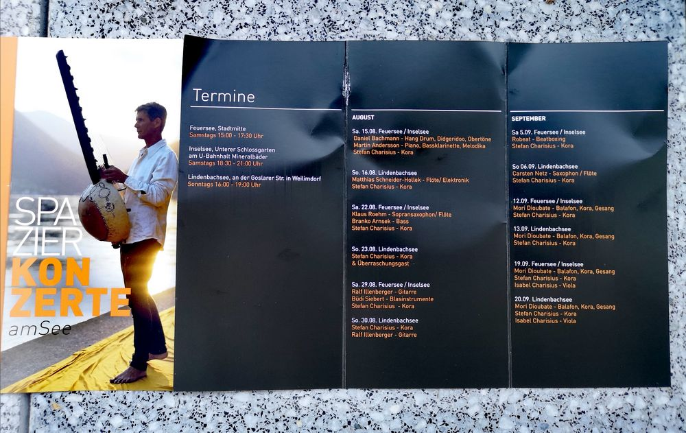 PP TERMINE AUG +SEPT 2020 Konzerte am See + TIPP 15Aug2020
