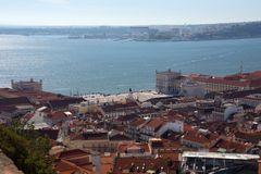 Praça do Comércio vom Castelo de São Jorge