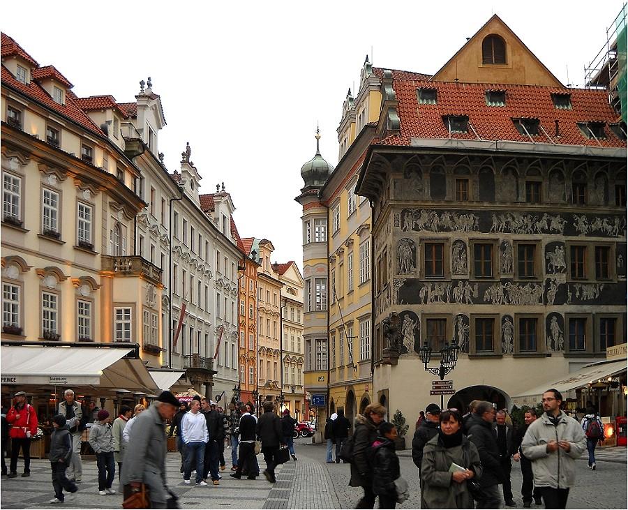 Prachtvolle Fassaden in Prag