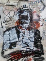 PRAESIDENT gesucht ? Streetart Prag - HASSPREDIGER ? S3-16col