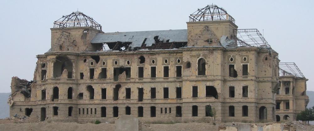 Präsidentenpalast in Afghanistan nach 30 Jahren Krieg