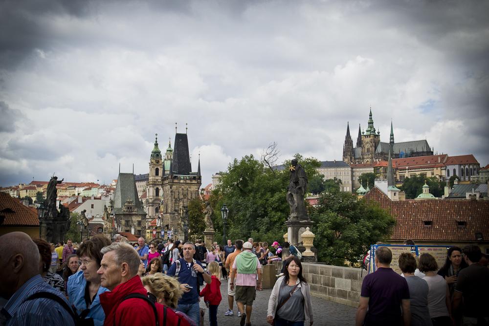 Prag... #028 - Auf der Karlsbrücke - Westende