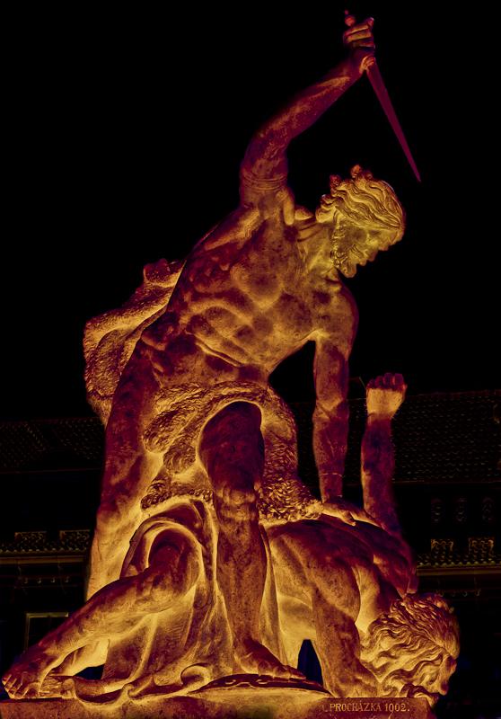 Prag... #033 - Hradschin - kämpfende Giganten