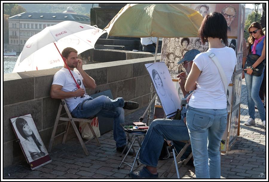 Prag, die Goldene Stadt 13, Portraitmaler Karlsbrücke