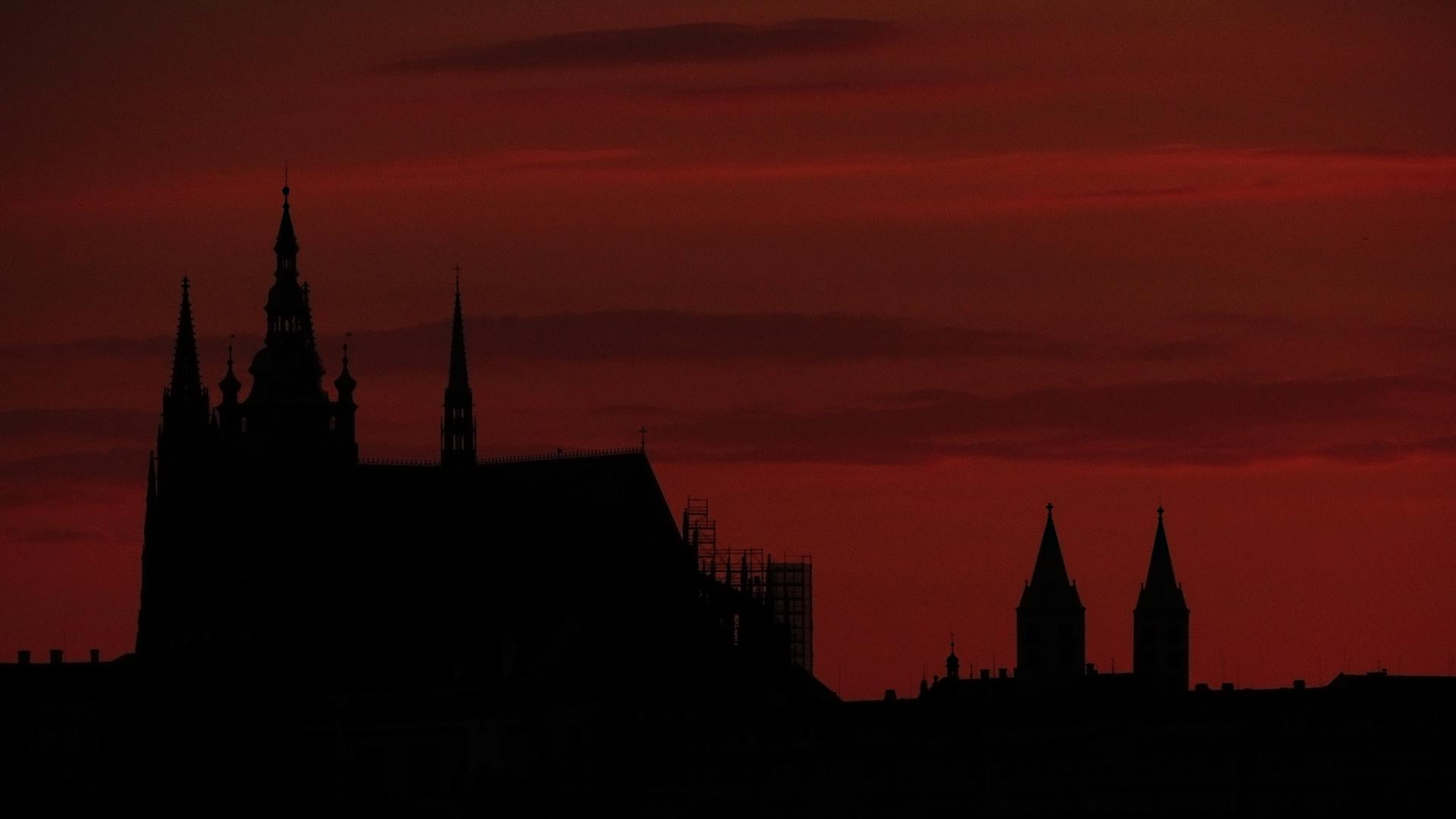 Prag - Hradschin Silhouette
