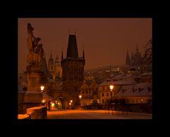 Prag - Karlsbrücke am Morgen