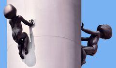 Prag - Riesige Baby-Skulpturen am Fernsehturm -