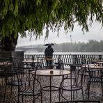 Praga bajo la lluvia