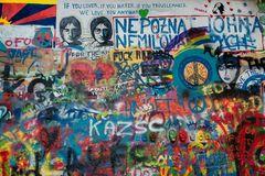 Praga, muro di J. Lennon