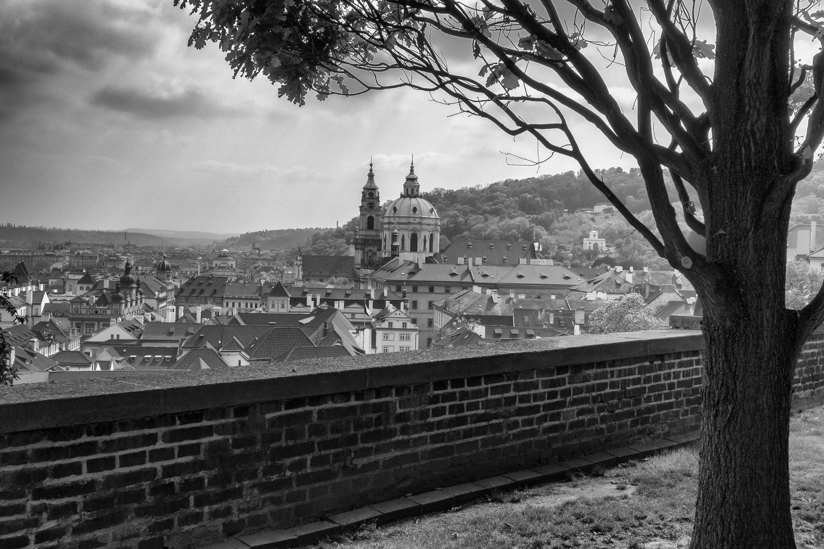 Praga, vista dai giardini del castello