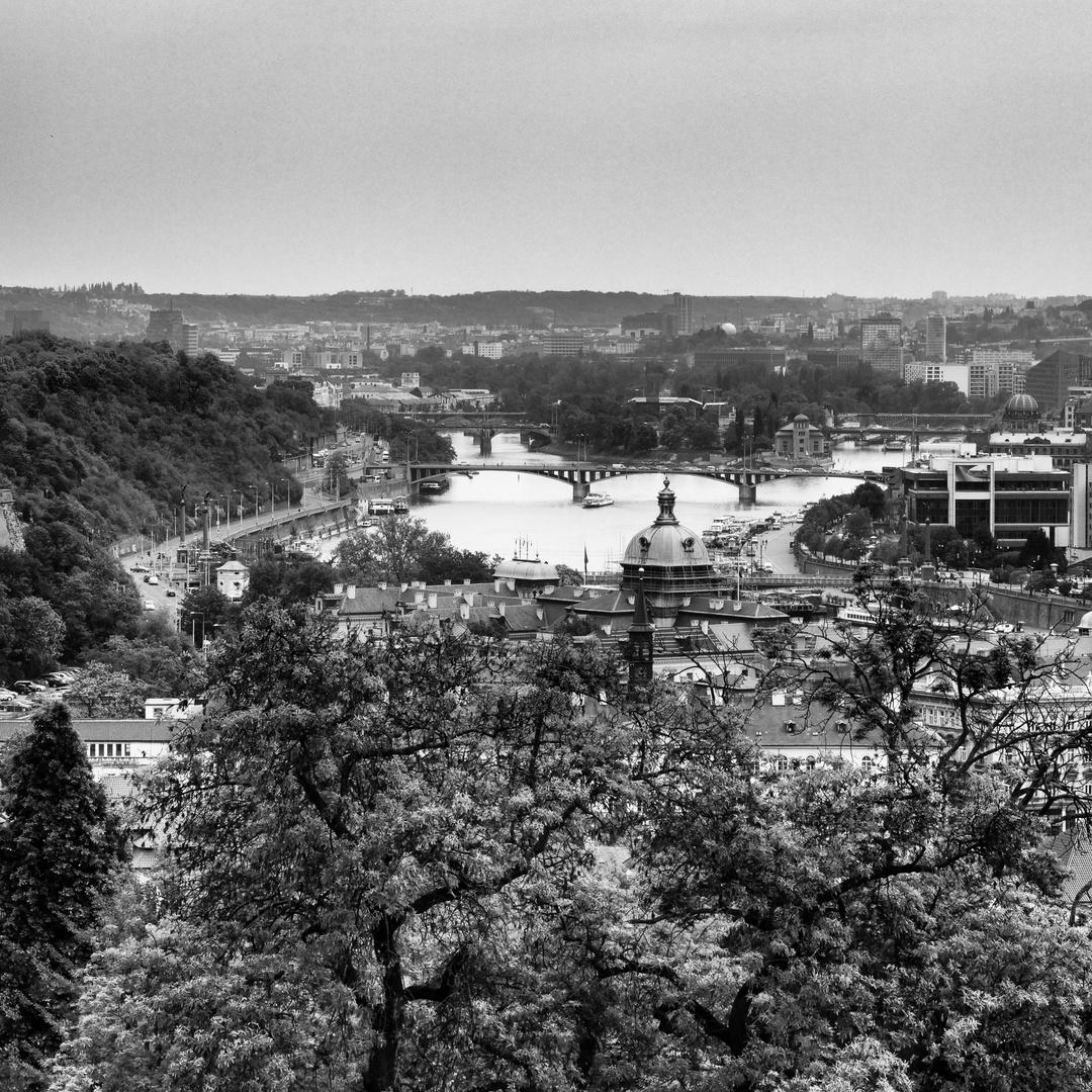 Praga, vista sulla Moldava