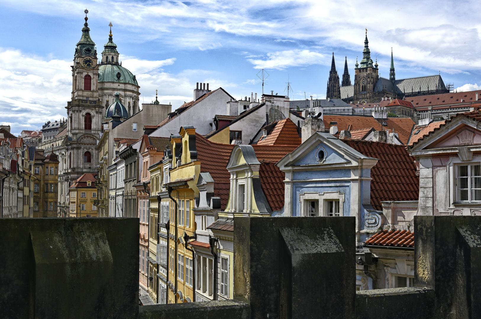 Prager Altstadt über den Dächern