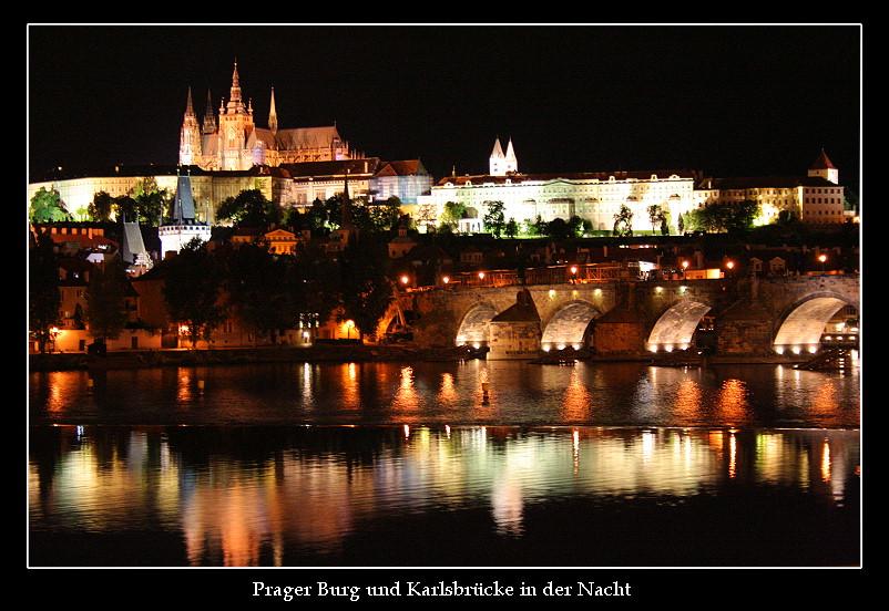 Prager Burg und Karlsbrücke...