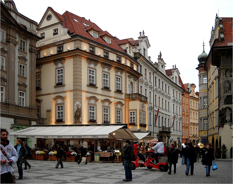 Prager Straßenszene