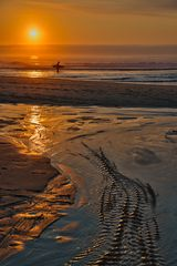 Praia Grande am Abend