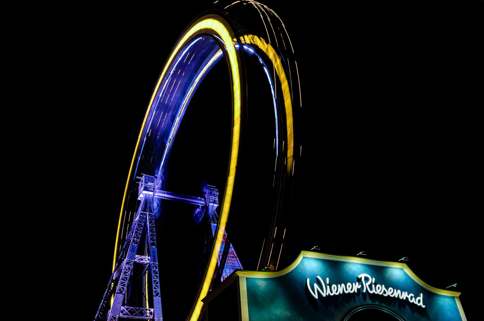 Prater - Wiener Riesenrad bei Nacht
