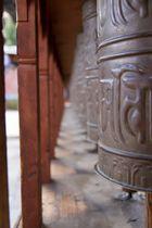 Prayer Wheels in Thimphu (Bhutan)