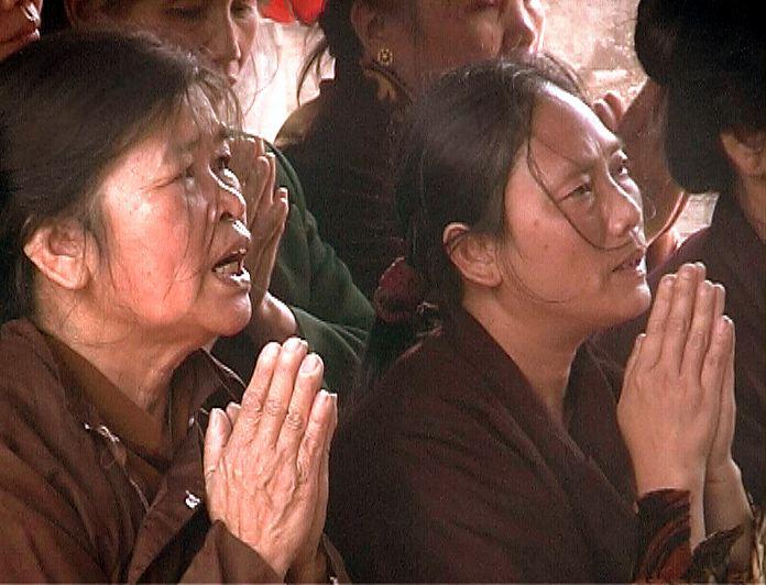 Praying Women, Chua But Thap (NE of Hanoi), Vietnam, February 2003
