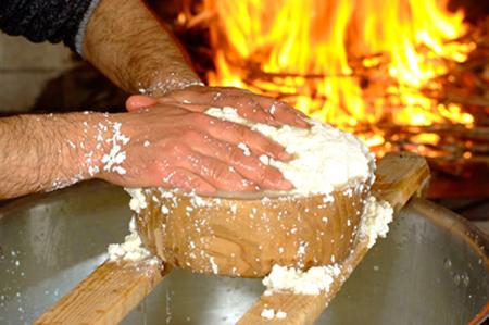 Preparazione artigianale del formaggio - Sardegna