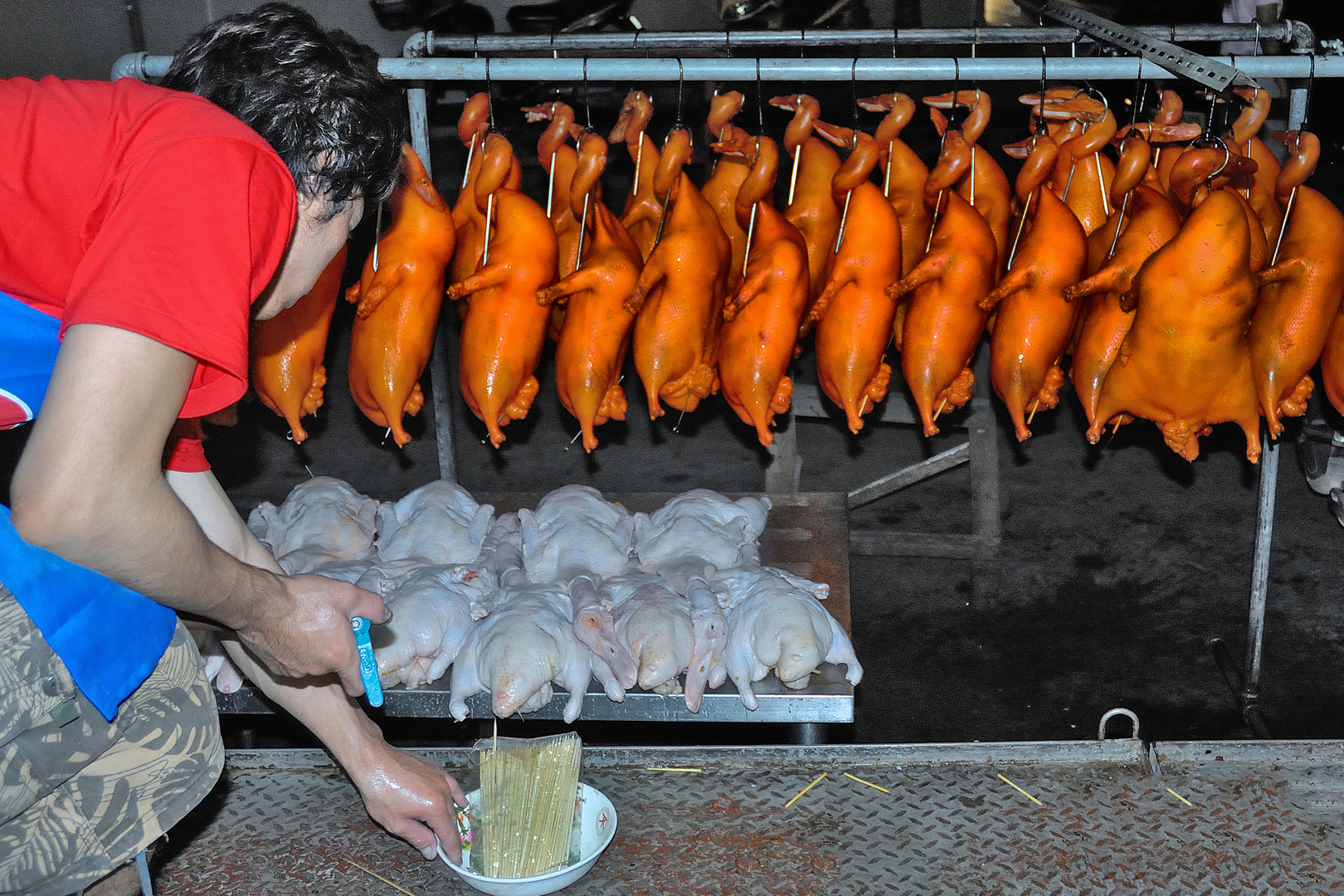 Preparing the Peking Duck