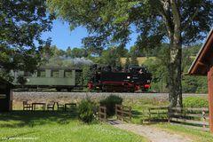 Preßnitztalbahn, Forellenhof, 99 1715, Juli 2013