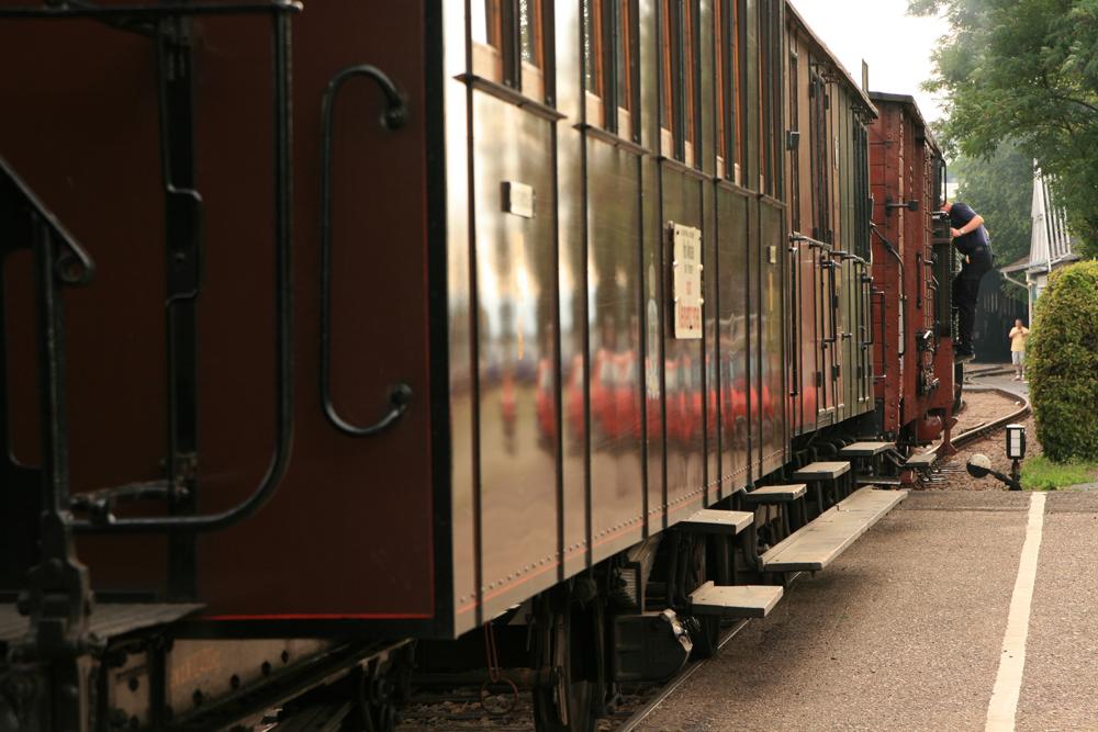 Preussenzug am Bahnhof Oberstadt