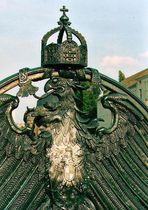 preußischer Adler auf der Weidendammer Brücke über die Spree