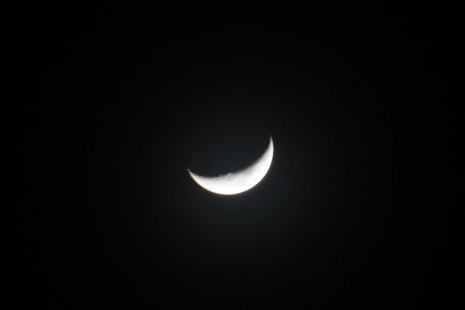primo quarto di luna senza alone