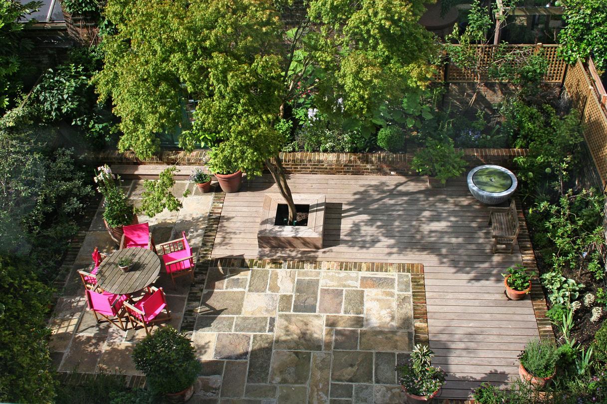primrose hill kleiner garten hinterm haus foto bild europe united kingdom ireland. Black Bedroom Furniture Sets. Home Design Ideas