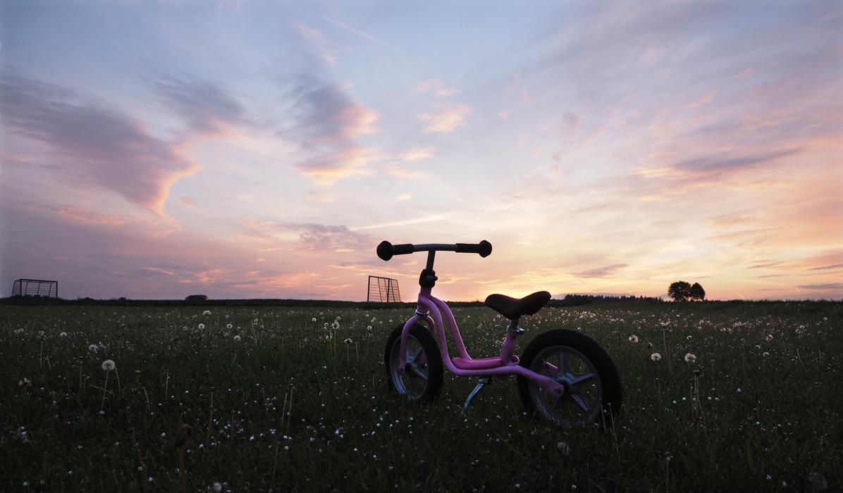 Prinzessin hat ihr Fahrrad vergessen