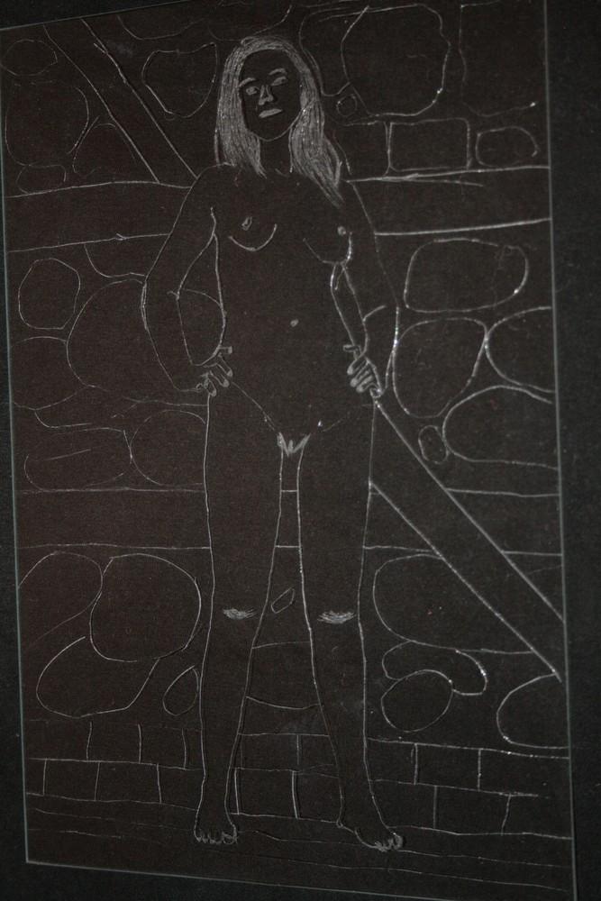 """Prinzessin Sira im Turmzimmer (aus """"der Magier, die Prinzessin und der Ritter"""")"""