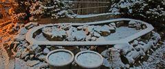 Privatsonne im Garten und die Eisenbahnstrecke ist zu geschneit !
