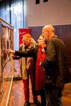 Prof. Harald Mante in der Lammert Ausstellung