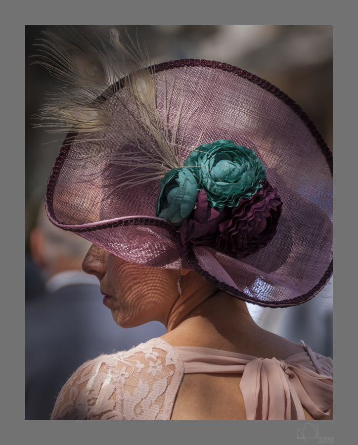Profil mit Hut