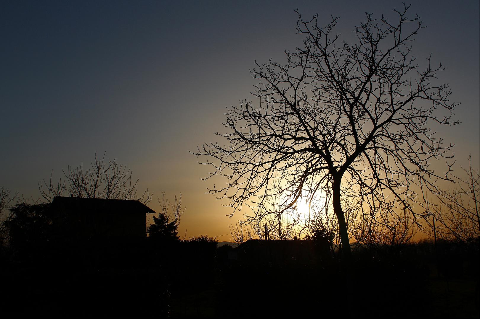 profili al tramonto