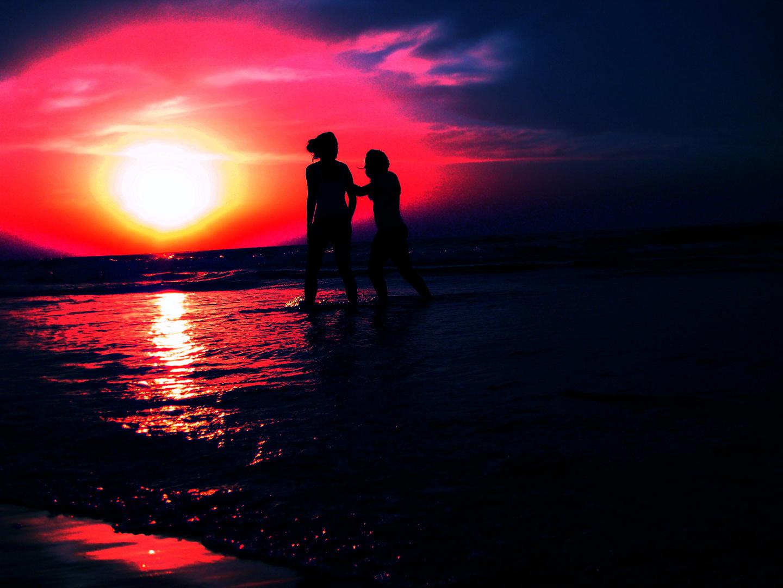Promenade au bord de mer