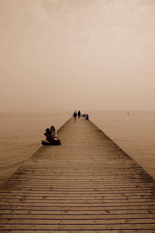 prospettiva sul lago